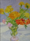 Sandra Caplan  1 marigolds_an_white_cloth.jpg